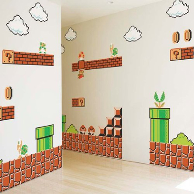 Mario wall stickers looking for some cool mario decorations - Mario wall clings ...