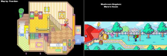 Mario and Luigi SuperstarSaga MushroomKingdom Mario'sHouse