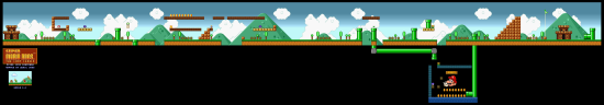 SuperMarioAll Stars SuperMarioBros LostLevels World1 1