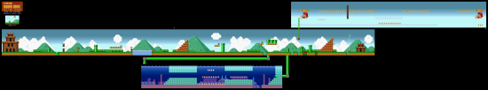 SuperMarioAll Stars SuperMarioBros LostLevels World4 1