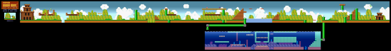 SuperMarioAll Stars SuperMarioBros LostLevels World6 1