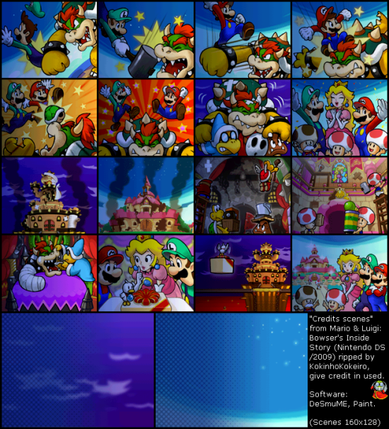 Mario and Luigi Bowsers Inside Story Misc credits scenes