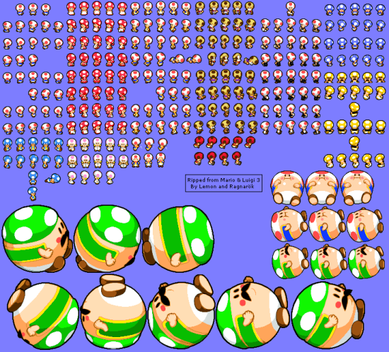 Mario and Luigi Bowsers Inside Story Non-Playable Characters Toads