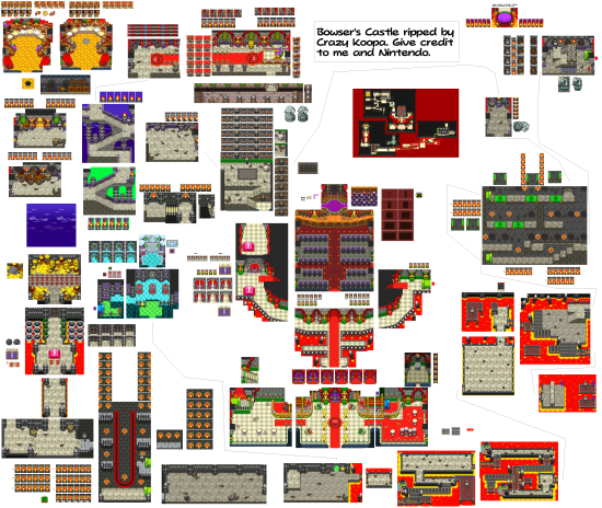 Mario and Luigi Bowsers Inside Story Overworld Backgrounds Bowsers Castle