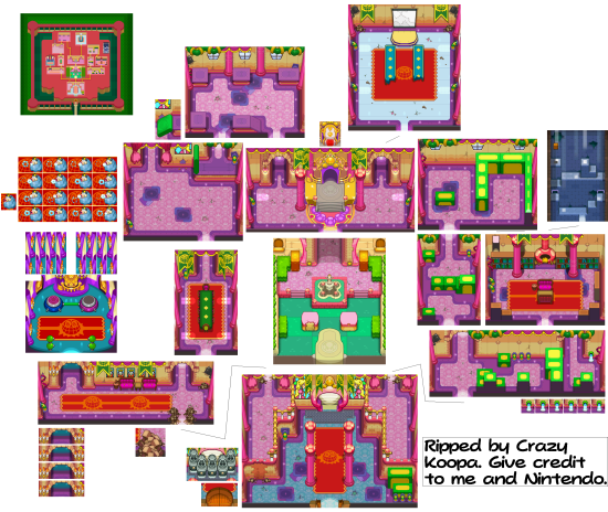 Mario and Luigi Bowsers Inside Story Overworld Backgrounds Fawfuls Castle first floor