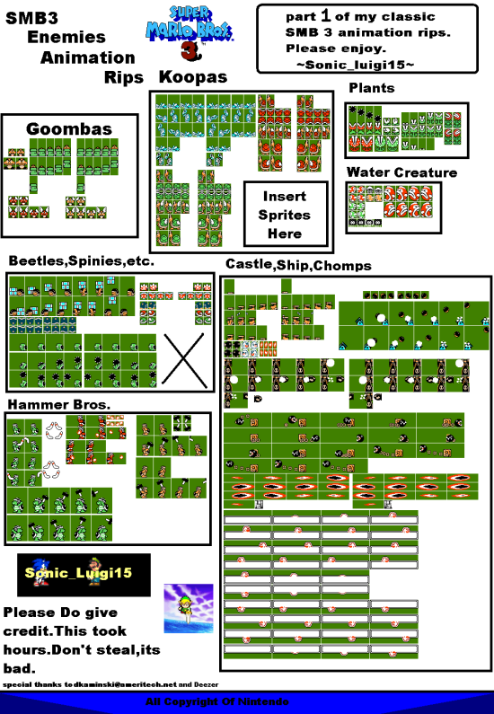 smb3 enemies sheet 2