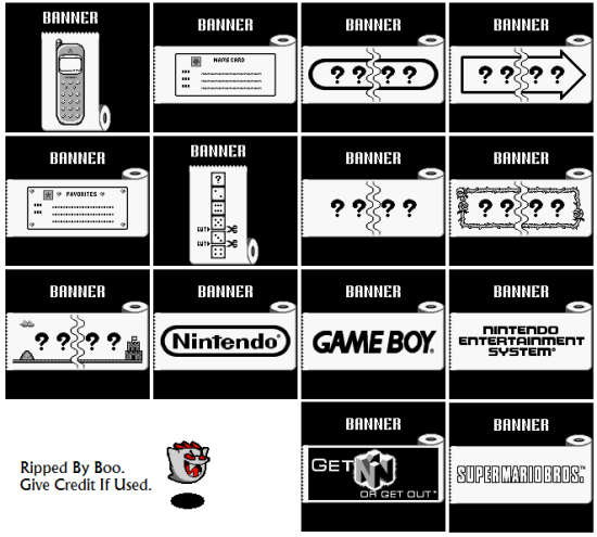 Super Mario Bros. Deluxe - Miscellaneous - Banners