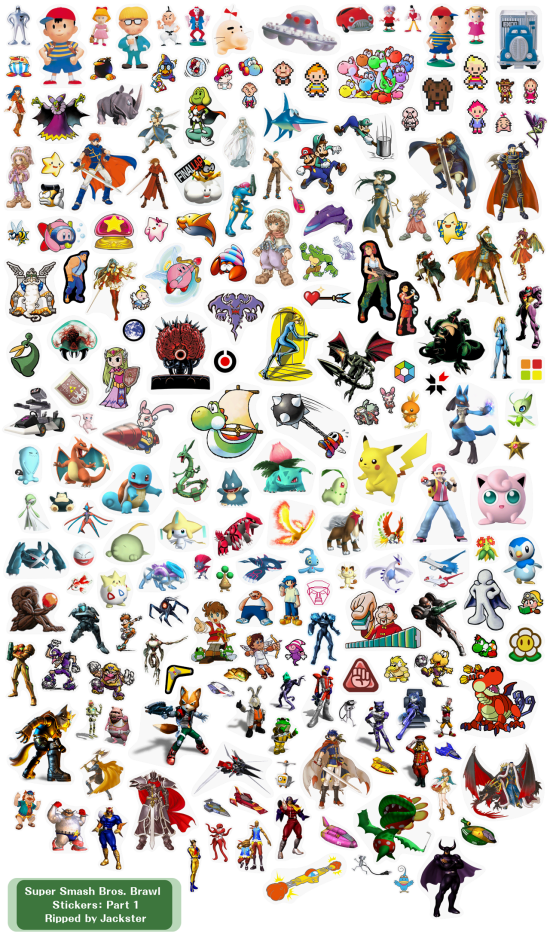 Super Smash Bros Brawl menus stickers 1