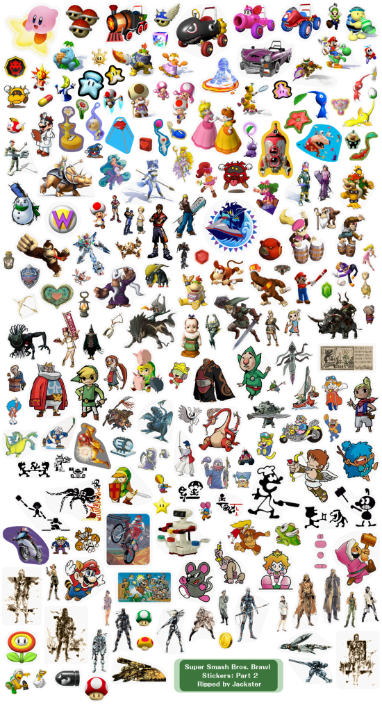 Super Smash Bros Brawl menus stickers 2