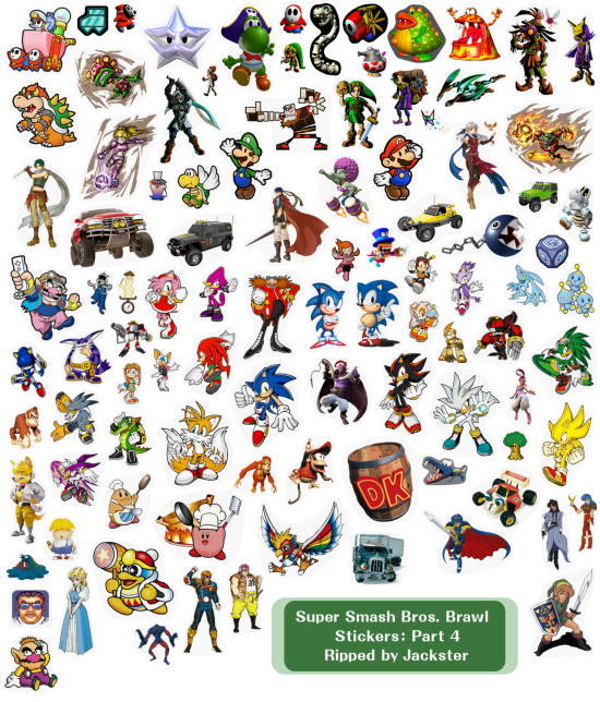 Super Smash Bros Brawl menus stickers 4