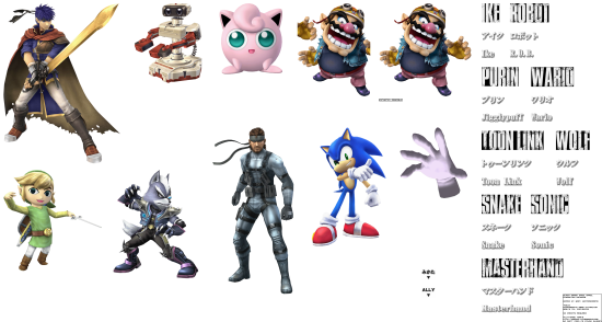Super Smash Bros Brawl renders character renders 5