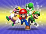 Super Mario, Yoshi, Wario and Luigi HD wallpaper