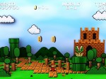 Super Mario Bros 1 NES 3D HD wallpaper