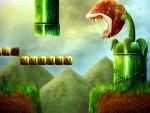 Super Mario Realistic Piranha Plant HD wallpaper