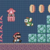 Mario Underwater cross stitch Patterns