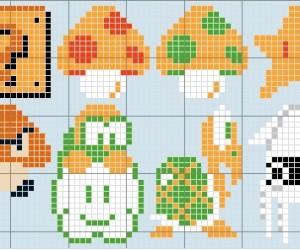 Super Mario Cross Stitch And Knitting Patterns