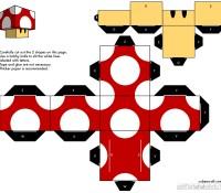 Download SMB1 Mushroom paper craft