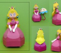 Princess Peach papercraft