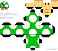 Mario Papercraft oragami 1 up
