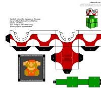 Mario Piranha plant papercraft