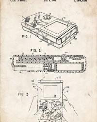 Nintendo Game Boy Patent Poster