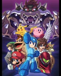 Super Smash Bros. Wii U group character Poster